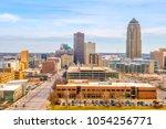 des moines iowa skyline in usa  ... | Shutterstock . vector #1054256771
