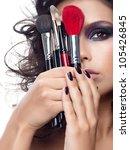 portrait of attractive ... | Shutterstock . vector #105426845