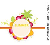 summer background with retro... | Shutterstock .eps vector #105427037