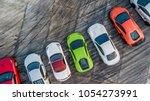 top view super car on asphalt... | Shutterstock . vector #1054273991