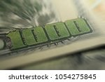 thousand dollars close up with... | Shutterstock . vector #1054275845