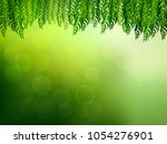 exotic tropical leaf and frower ... | Shutterstock .eps vector #1054276901