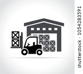 illustration of warehouse icon... | Shutterstock .eps vector #1054283591