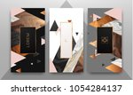 gold  rose gold  black and... | Shutterstock .eps vector #1054284137
