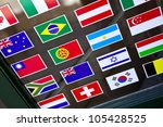 flags stickers on a shop window | Shutterstock . vector #105428525