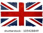 old designed grunge british flag | Shutterstock . vector #105428849