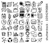set of hand drawn business... | Shutterstock .eps vector #1054290884