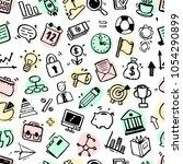 hand drawn business seamless... | Shutterstock .eps vector #1054290899
