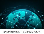 connection concept. global...   Shutterstock .eps vector #1054297274