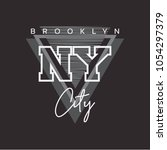 Vector illustration on the theme of New York City, Brooklyn.  Typography, t-shirt graphics, poster, print, banner, flyer, postcard