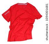 rrinkled red running tshirt on... | Shutterstock . vector #1054301681