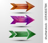 the vector set of multi colored ... | Shutterstock .eps vector #1054303784