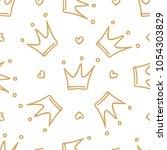 hand drawn seamless pattern... | Shutterstock .eps vector #1054303829
