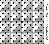 seamless black polka dot...   Shutterstock .eps vector #1054305947