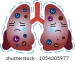 unhealthy lung illustration | Shutterstock .eps vector #1054305977