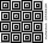 seamless black and white vector ...   Shutterstock .eps vector #1054306184