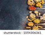 various pasta spoons. cooking... | Shutterstock . vector #1054306361
