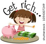english phrase for get rich... | Shutterstock .eps vector #1054307249