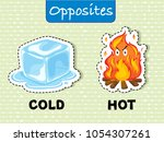 opposite words for cold and hot ... | Shutterstock .eps vector #1054307261