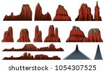 different patterns of canyons... | Shutterstock .eps vector #1054307525