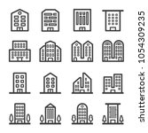 building line icon set | Shutterstock .eps vector #1054309235