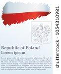 flag of poland  polish flag ...   Shutterstock .eps vector #1054310981