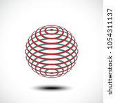 abstract design element  sign ...   Shutterstock .eps vector #1054311137