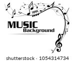abstract music notes on line... | Shutterstock .eps vector #1054314734