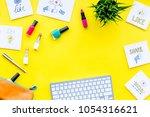 female blogger concept. work... | Shutterstock . vector #1054316621