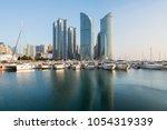 busan city skyline view at... | Shutterstock . vector #1054319339