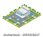 supermarket or shop building... | Shutterstock .eps vector #1054323617