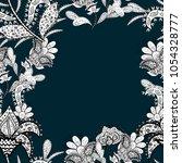 zentangle abstract flowers.... | Shutterstock . vector #1054328777