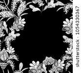 flowers watercolor seamless... | Shutterstock .eps vector #1054330367