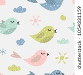 childish seamless pattern with... | Shutterstock .eps vector #1054331159
