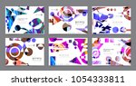 creative covers with abstract... | Shutterstock .eps vector #1054333811
