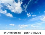 blue sky with cloud summer sky... | Shutterstock . vector #1054340201
