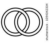 interlocking circles icon sign  ...   Shutterstock .eps vector #1054342334