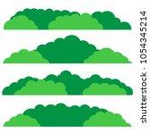 green bush set. flat design.... | Shutterstock .eps vector #1054345214