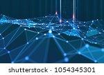 global network. blockchain. 3d... | Shutterstock . vector #1054345301