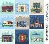 entertainment city places.... | Shutterstock .eps vector #1054346171