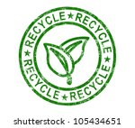recycle stamp showing renewable ... | Shutterstock . vector #105434651
