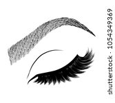 illustration with woman's eye... | Shutterstock .eps vector #1054349369