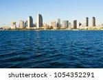 skyline of downtown san diego... | Shutterstock . vector #1054352291