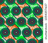 textile fashion african print... | Shutterstock .eps vector #1054357637