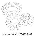 3d gear wheel. vector rendering ... | Shutterstock .eps vector #1054357667