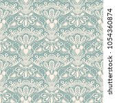 seamless detailed lace pattern... | Shutterstock .eps vector #1054360874