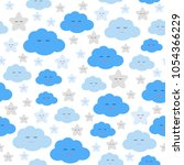 baby seamless pattern print... | Shutterstock .eps vector #1054366229