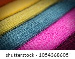 colorful upholstery fabric... | Shutterstock . vector #1054368605