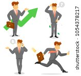 smiling businessman isolated... | Shutterstock . vector #1054378217