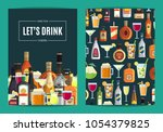 vector card  flyer or brochure... | Shutterstock .eps vector #1054379825